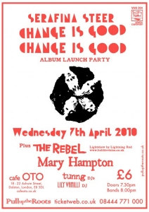 flyer for album launch